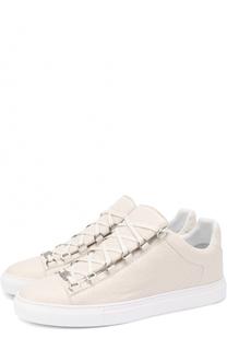 Кожаные кеды на шнуровке Balenciaga