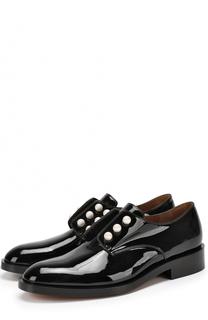 Лаковые ботинки с жемчужинами Givenchy