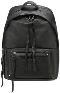 Кожаный рюкзак с внешним карманом на молнии MCQ