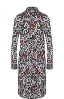 Платье-рубашка прямого кроя с контрастным цветочным принтом Zadig&Voltaire Zadig&Voltaire