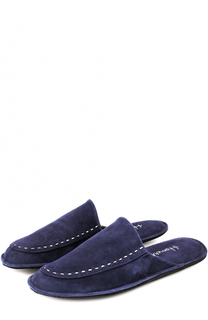 Домашние замшевые туфли с прострочкой Homers At Home