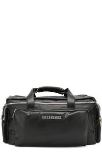 b490d4fa77c5 Дорожная сумка с внешними карманами на молнии и плечевым ремнем Dirk  Bikkembergs