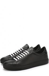 Кожаные кеды на шнуровке Givenchy