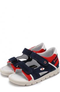 Комбинированные сандалии с застежками велькро Falcotto