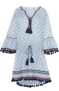 Туника с укороченным рукавом и декоративной отделкой Talitha