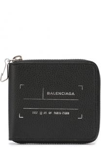 Кожаное портмоне на молнии с отделениями для кредитных карт Balenciaga