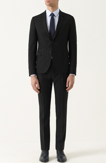 Шерстяной костюм с пиджаком на двух пуговицах Valentino