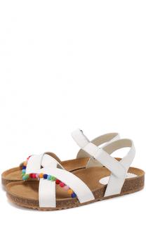 Кожаные сандалии с декором Il Gufo
