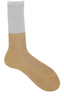 Хлопковые носки с металлизированной отделкой Antipast