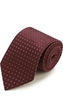 Шелковый галстук с узором Armani Collezioni