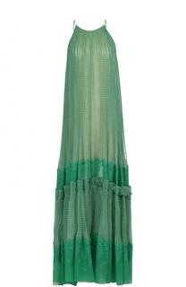 Шелковое платье-макси на тонких бретельках Stella McCartney