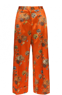 Укороченные расклешенные брюки с цветочным принтом Dries Van Noten