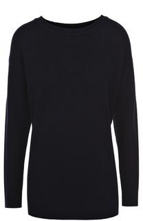 Кашемировый пуловер прямого кроя с круглым вырезом James Perse
