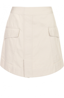 Хлопковая мини-юбка с накладными карманами Isabel Marant Etoile