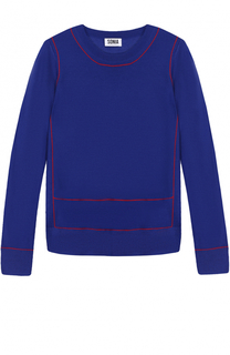 Пуловер прямого кроя с контрастной отделкой и круглым вырезом Sonia by Sonia Rykiel