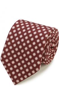 Шелковый галстук с цветочным узором Ermenegildo Zegna