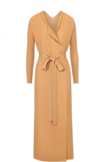 Удлиненное вязаное пальто с поясом malo