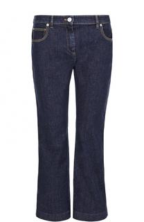 Укороченные расклешенные джинсы с контрастной прострочкой Kenzo