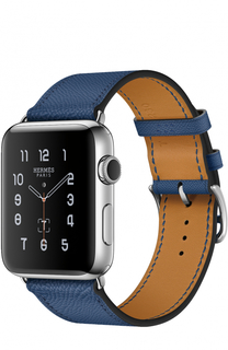 Apple Watch 42mm Stainless Steel Case Hermes Single Tour Epsom Leather Apple