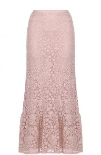 Кружевная юбка-макси с оборкой REDVALENTINO