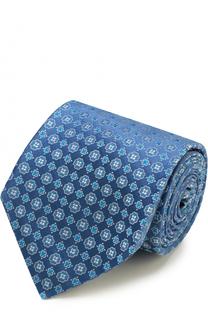 Шелковый галстук с узором Kiton