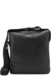 Кожаная сумка-планшет HUGO