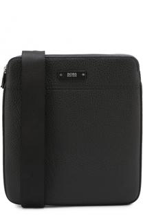 Кожаная сумка-планшет с двумя отделениями на молнии BOSS