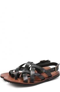 Кожаные сандалии на плоской подошве Uit
