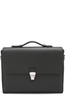 Кожаный портфель с плечевым ремнем BOSS