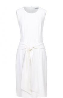 Платье-миди с круглым вырезом и декоративным поясом Givenchy