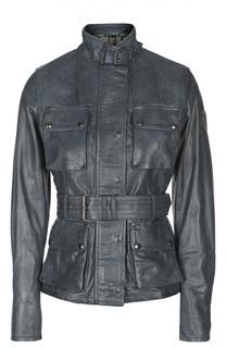 Кожаная куртка с ремнем Belstaff