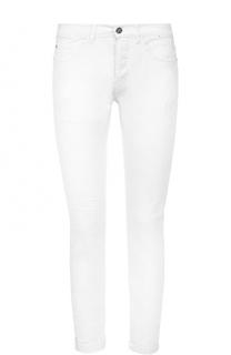 Зауженные джинсы с декоративными потертостями Frankie Morello