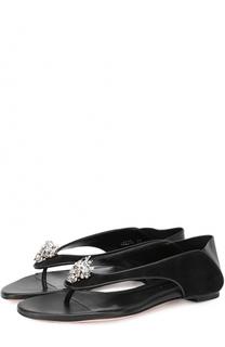Кожаные сандалии с декором Alexander McQueen