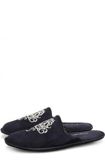 Домашние замшевые туфли с вышивкой Homers At Home