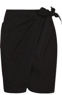Мини-юбка с запахом и накладным карманом Isabel Marant Etoile