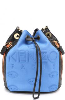 Сумка Kombo Bucket из кожи и неопрена Kenzo