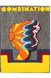 Клатч в виде книги с аппликацией Combination Olympia Le-Tan