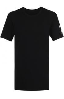 Удлиненная хлопковая футболка с контрастной отделкой 11 by Boris Bidjan Saberi