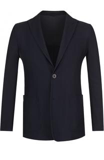 Однобортный пиджак фактурной вязки Giorgio Armani