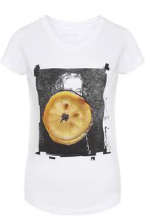Хлопковая футболка с контрастным принтом Zadig&Voltaire Zadig&Voltaire