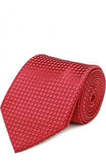 Шелковый галстук с узором Giorgio Armani