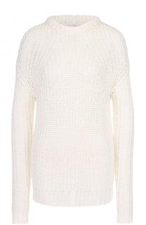 Пуловер фактурной вязки  круглым вырезом Rick Owens