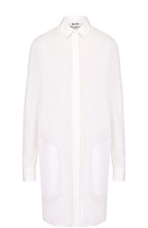 Хлопковое платье-рубашка с накладными карманами Acne Studios