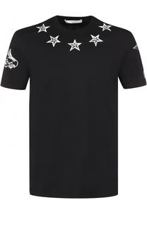 Хлопковая футболка с контрастным принтом Givenchy