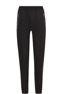 Хлопковые брюки с заниженной линией шага и поясом на резнике Givenchy