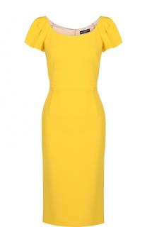 Приталенное платье-миди с оборками Dolce & Gabbana