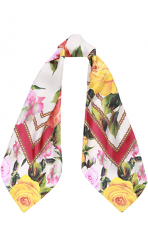 Шелковый платок с принтом Dolce & Gabbana