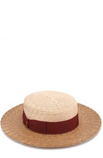 Соломенная шляпа с лентой Borsalino