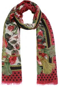 Кашемировый шарф с принтом Dolce & Gabbana