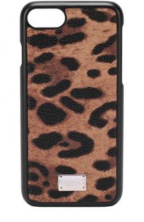 Чехол для iPhone 7 с леопардовым принтом Dolce & Gabbana